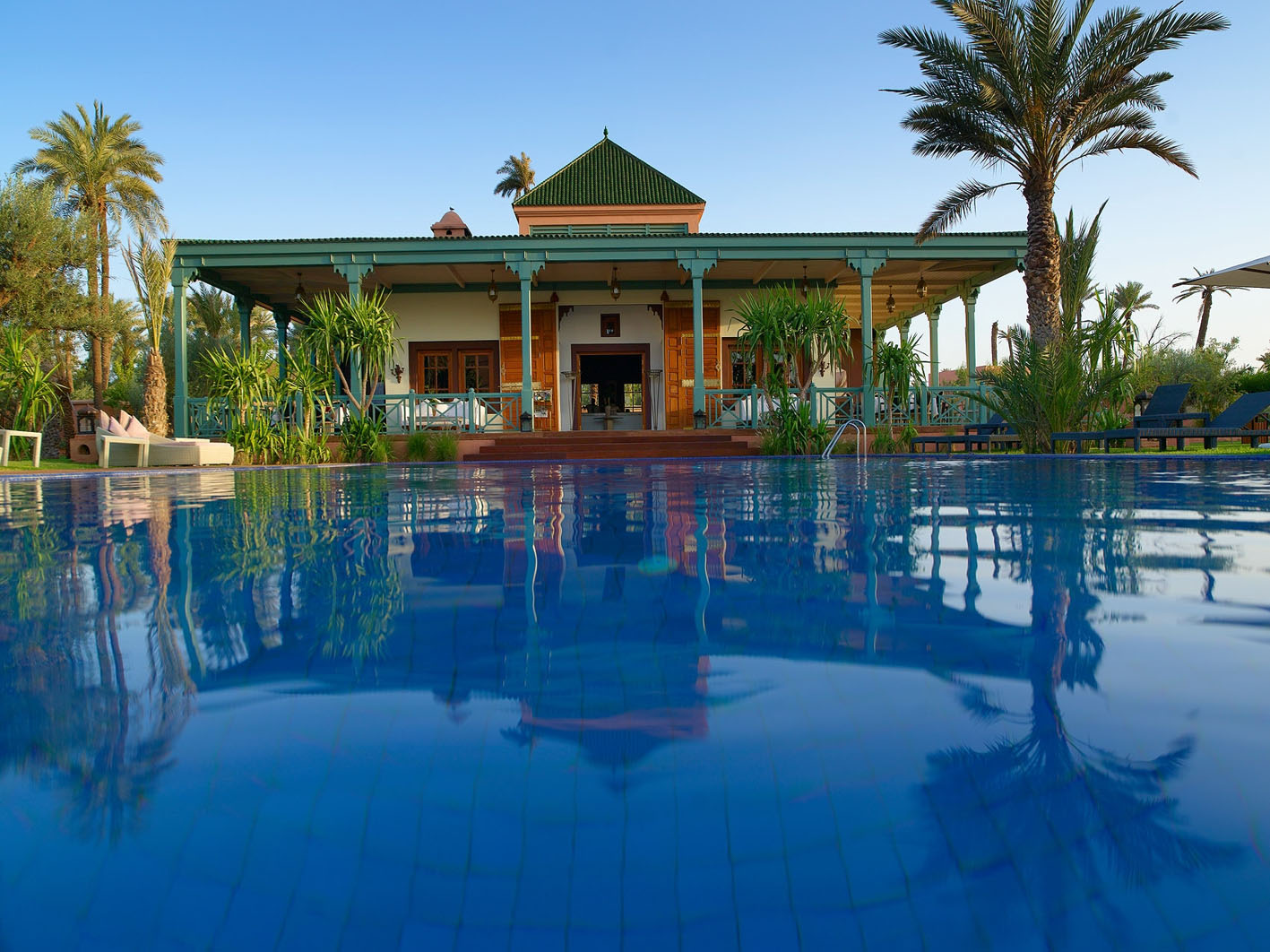 hotel les jardins d 39 ines en marrakech marruecos. Black Bedroom Furniture Sets. Home Design Ideas