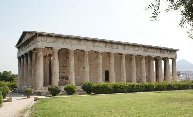 Conocer el templo de hefesto grecia for Arquitectura griega templos