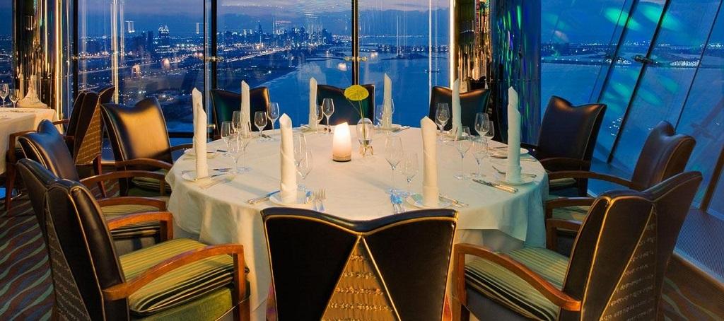 Burj Al Arab Hotel vistas restaurante