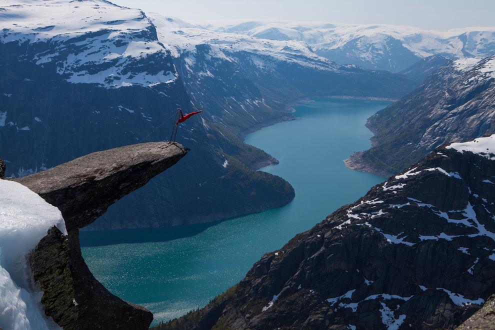 Trolltunga en Hordaland en Noruega