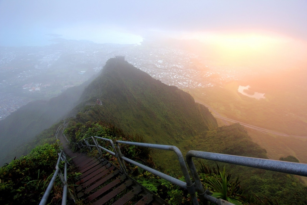 escaleras de Haiku en Hawaii