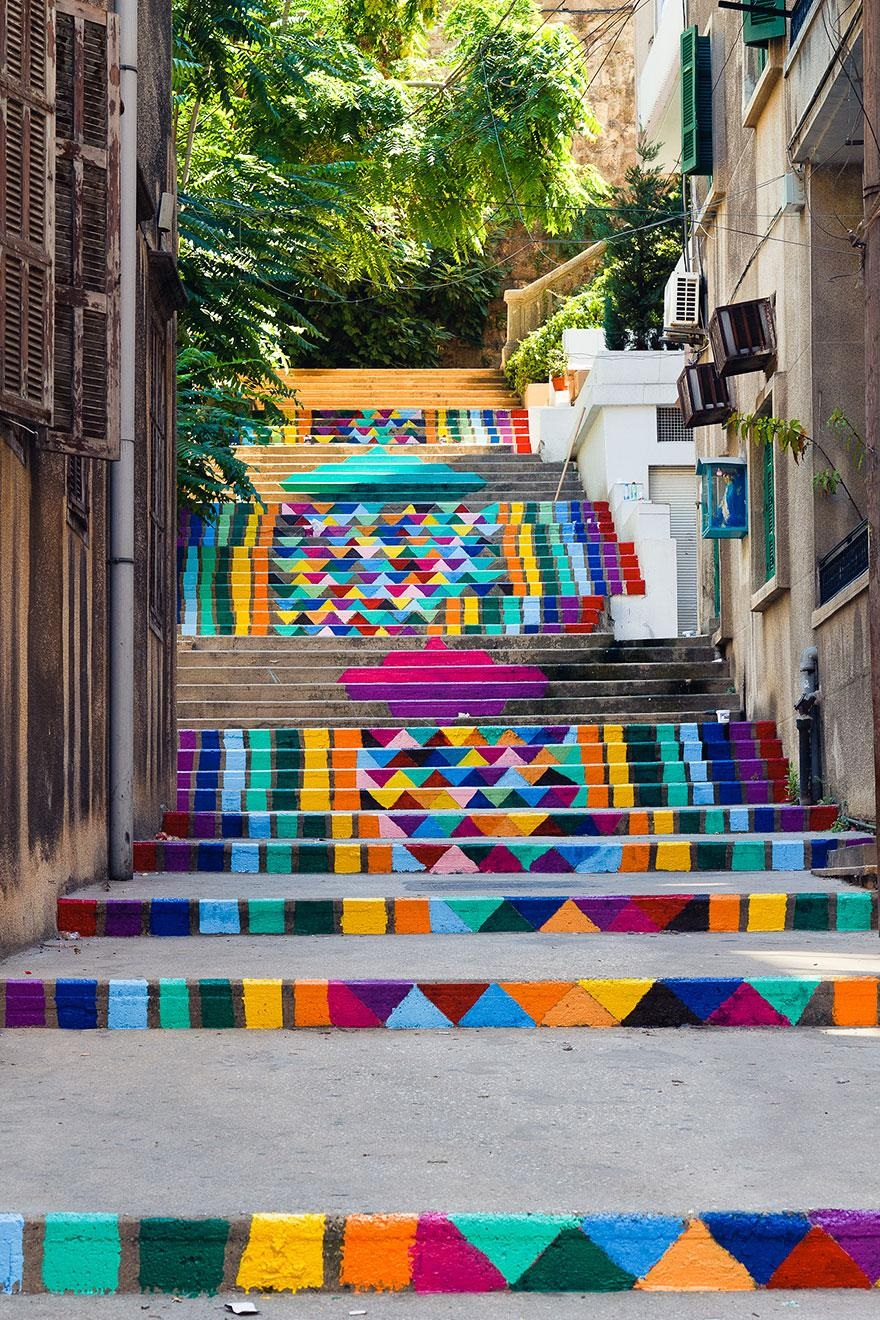 Escaleras en Beirut Libano