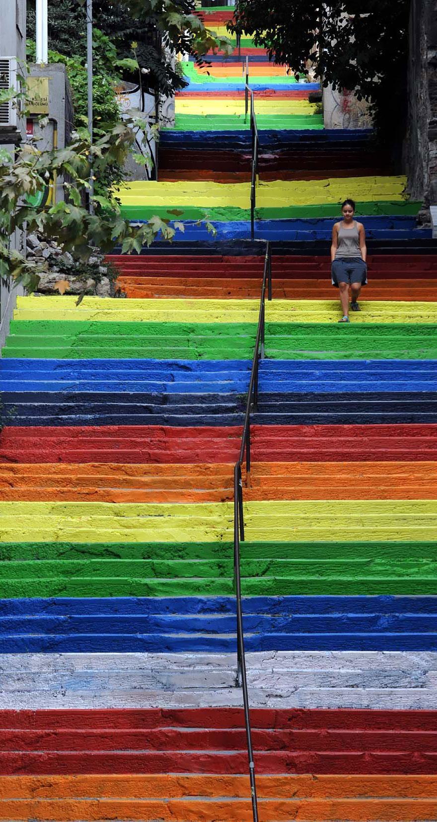 Escaleras en Estambul Turquia
