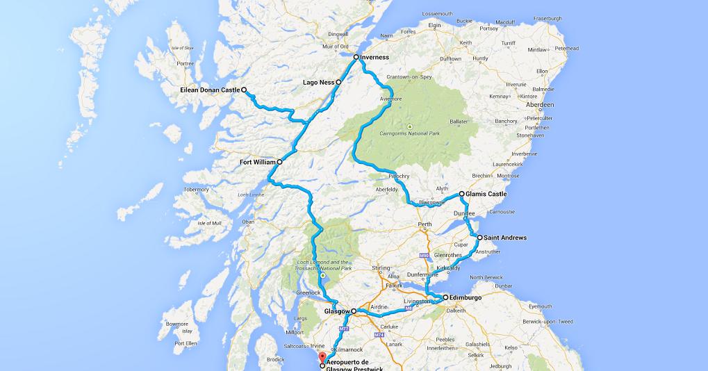itinerario escocia