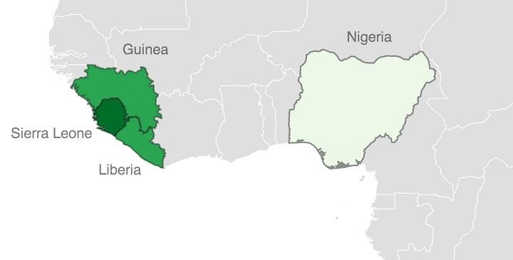 paises no viajar ebola1