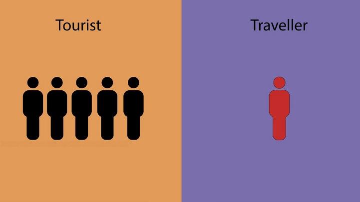 viajero turista foto
