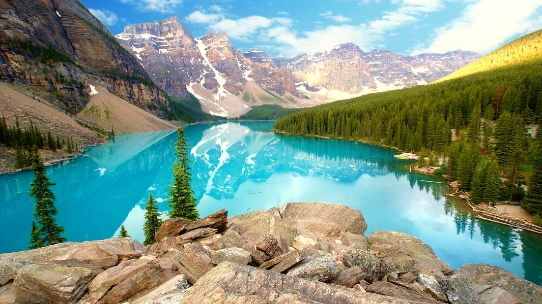 Lago Moraine, uno de los lugares más hermosos de Canadá