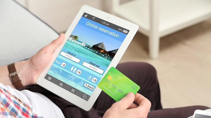 reserva hotel tablet